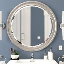 wade logan farleigh round mirror u0026 reviews wayfair
