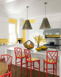 Red Kitchen Set - kitchen awesome modern bright red kitchen stools decorating ideas