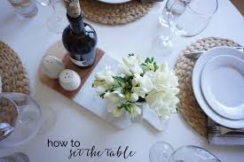 Setting The Table by Tricks Of The Trade Table Setting The Tidy Corner