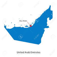 United Arab Emirates Map Detailed Map Of United Arab Emirates And Capital City Abu Dhabi