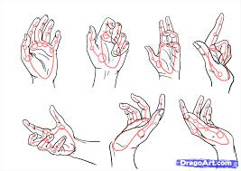 how to sketch a hand inderecami drawing