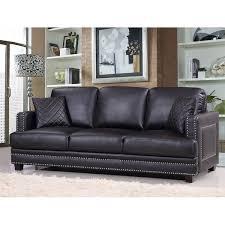 leather sofa with nailheads willa arlo interiors dia nailhead sofa u0026 reviews wayfair