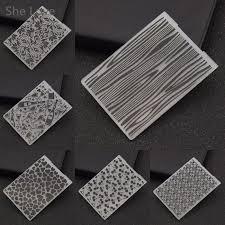 Embossing Templates Card Making - she love plastic embossing folder geometric template diy