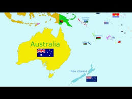 map of australia and oceania countries and capitals the countries of the world song oceania