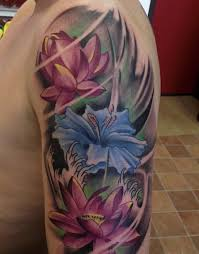 colorful lotus tattoo design of tattoosdesign of tattoos