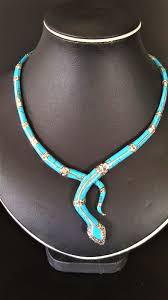 sterling silver snake necklace images 925 sterling silver snake necklace with turquoise marcasite and jpg