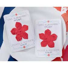 flower seed paper personalized wedding plantable favors flower seed paper cards favor