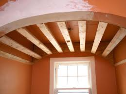 How To Sheetrock A Ceiling by How To Create A Barrel Ceiling In Small Nook Hgtv