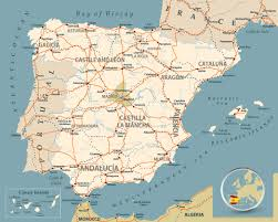 A Map Of Spain by Map Spain