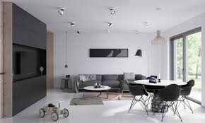 2 open plan living and dining room design with sleek interior