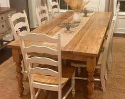 Weathered Wood Dining Table Rustic Dining Table Etsy