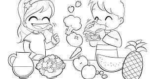 healthy foods kids coloring pages vegan gekimoe u2022 111796