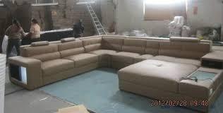 U Sofas My Bestfurn Sofa Large Size U Shaped Villa Couch Genuine Leather