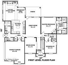 Big Houses Floor Plans One Story Open Floor Plans One Story 3 Bedroom 2 Bath French