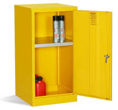 bright yellow mini storage cabinets for flammable liquids safetyshop