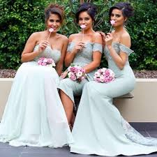 fitted bridesmaid dresses convertible bridesmaid dresses mint green lace appliques