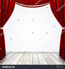 Curtain Drapes Empty Stage Red Curtains Drapes Light Stock Vector 201994522