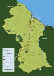 Std Map Travel Map Of Guyana