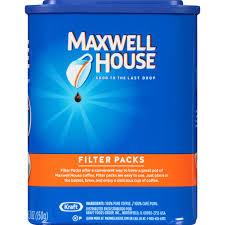 maxwell house original roast ground coffee filter packs 10 ct