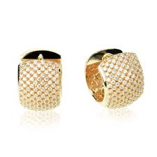 beautiful ear rings accent sterling silver 14k gold plated beautiful pave cz