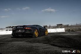Black Lamborghini Aventador - lamborghini aventador savini wheels
