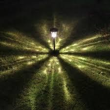 25 u0027 u0027 h large outdoor solar led pathway landscape lights in black