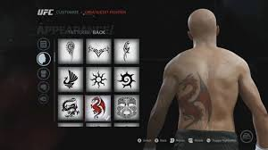 ea sports ufc tattoos gear u0026 walkout songs youtube