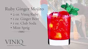 mojito recipe card viniq liqueur u0026 moscato cocktails purple red u0026 orange