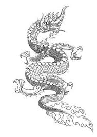naga tattoo thailand drawn chinese dragon thai pencil and in color drawn chinese dragon