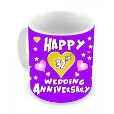 32nd wedding anniversary 32nd wedding anniversary gift coffee mug