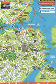 Map Of Boston Harbor by Boston Sightseeing Map Map Of Boston Sightseeing United States