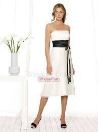 a line chiffon black white tea length bow tie belt petite