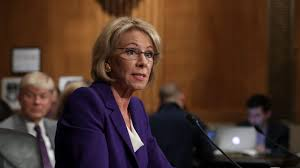 betsy devos granted large security detail after run ins with