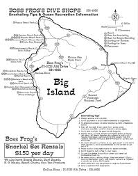 Hawaii Island Map Maps Boss Frog U0027s Snorkel Bike U0026 Beach Rentals