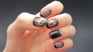 sheer black nails youtube
