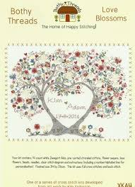 bothy threads blossoms wedding sampler counted cross stitch