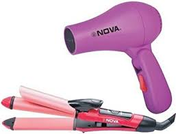 Hair Dryer And Straightener nhs 800 professional straightener and curler with hair