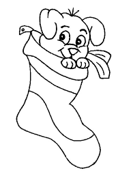 cute puppy christmas stocking coloring download