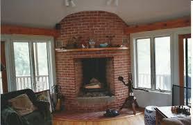 Living Room Red Brick Fireplace Brick Fireplaces Gray Masonry