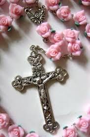 catholic rosary beautiful soft cerami bead rosary cross crucifix
