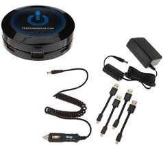 phone charger station chargehub 7 usb port charging station with vehicle cable page 1