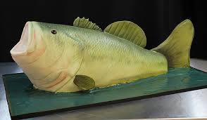 bass fish cake amazing sculpted cakes oakleaf cakes bake shop