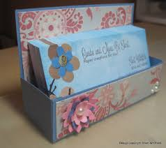 cards and more by sheri business card holder box tutorial