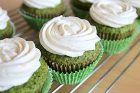 spinach cupcakes with orange whipped cream cheese frosting ai