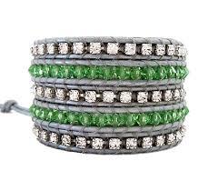 rhinestone wrap bracelet images Crystal and rhinestone leather wrap bracelet onsra designer jpg