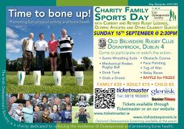 charity family sports day with irish osteoporosis society