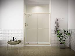Fluence Shower Door Fluence Frameless Sliding Shower Door With 1 4 Inch Glass K