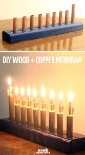 cool menorah diy wood and copper menorah and crafters