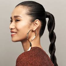 long hair style showing ears the best statement earrings and hairstyles to wear to a holiday