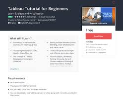 tableau visualization tutorial comidoc tableau tutorial for beginners udemy courses review
